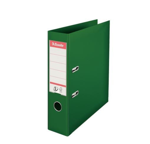 Lever Arch File no.1, A4, 75mm, green